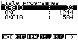 Editeur de programmes Basic Casio 5.1