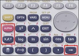Touches partie supérieure calculatrice Casio