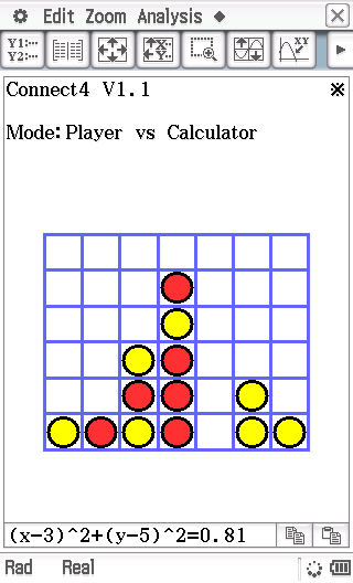 Planète Casio - Jeu Casio de reflexion - Connect4 - helder7 - Calculatrices