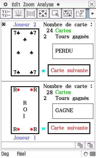 Planète Casio - Jeu Casio - La Bataille - hashby - Calculatrices